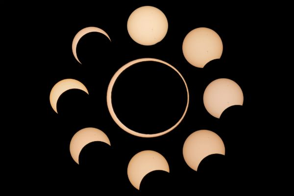 Composite image of the Annular Eclipse