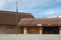The front entrance to Al Seeliger Elementary School
