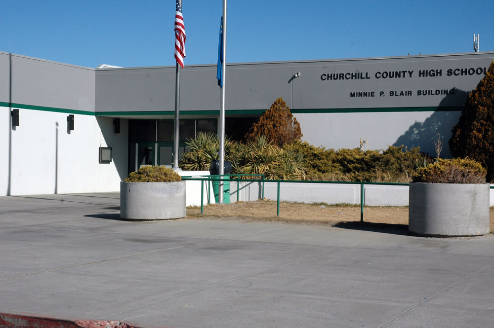 The Minnie P. Blair building at Churchill County High School.