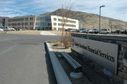 The main sign at the Harley Davidson Financial Service building in Carson City