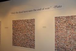 Photo of a wall during the 2009 Always Lost exhibit.