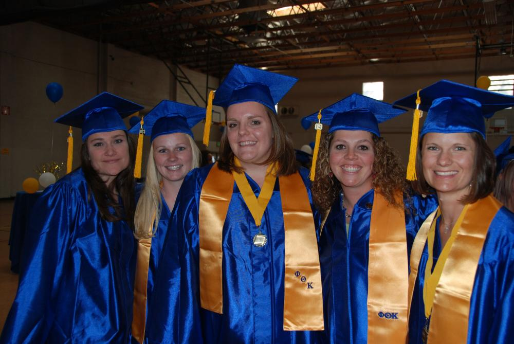 Nursing students graduating in 2009.