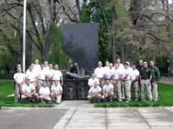 Class of 2013 at the Law Enforcement Memorial after their annual Pride Run on May 5, 2013