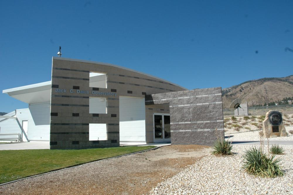 The front entrance to the Jack C. Davis Observatory