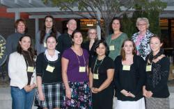 Students at the WNC Scholarship Reception in October of 2009
