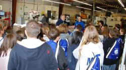 Instructor Paul Eastwood talks with students at the Tech Prep college day 2009.