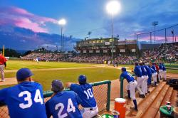 Sunset for 2009 JUCO World Series semifinal game.