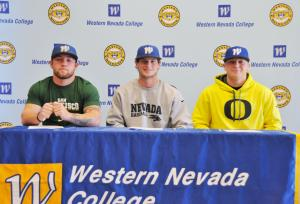 Jack Hall, Christian Stolo and Conor Harber on Signing Day