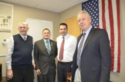WNCs Kevin Burns and Tim Galluzi with Caleb Cage, Nevada Director or Military and Veterans Policy,…