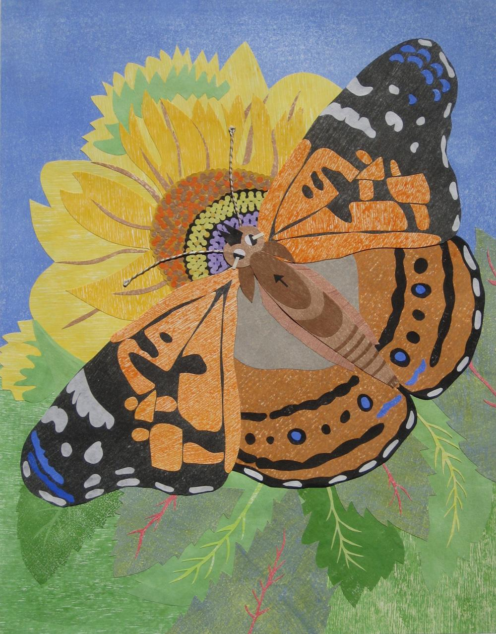 Painted Lady Butterfly by Carolyn Brown