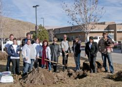 The Associated Students of Western Nevada and Kyle Horvath (right) of Friends of the Urban Forest…