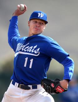 Conor Harber was 8-0 on the mound for the Wildcats in 2014.