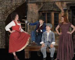 Brynn Garrett, Trenton Lynn, Logan Chapman and Melody Rickets in Oliver!