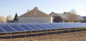 Newly completed solar array at WNC Douglas