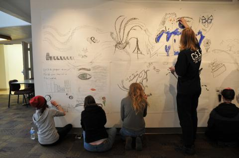 ART 101 students contribute to the Works in Progress exhibit, which shows until March 13 at the WNC…