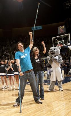 Grant Korgan at UNR Basketball Halftime Show in 2011
