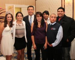WNC Latino Students with Gov. Brian Sandoval