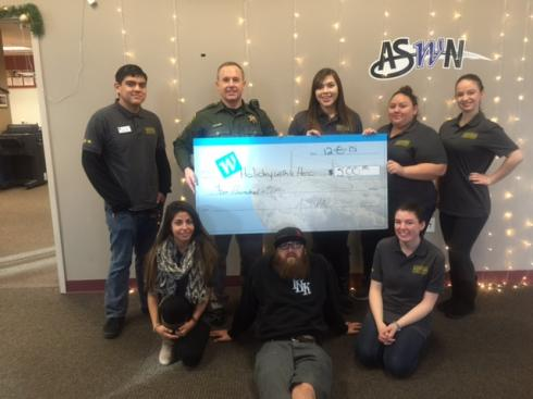 Members of the Associated Students of Western Nevada at Western Nevada College made a $500 donation…