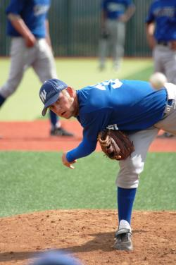 Jeff Barto, one of the Wildcats pitchers.