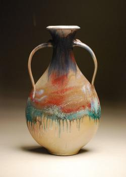 Wood Salt Fired Vase - Joe Winter