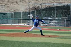 Kyle Starratt dominated at the mound in the first game.