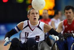Wheelchair rugby players to speak at Marlette Hall, Cedar Building.