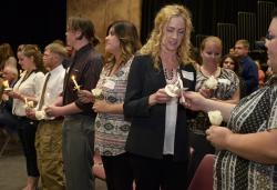 Phi Theta Kappa Honor Society Induction 2015 Included Candle-Lighting Ceremony