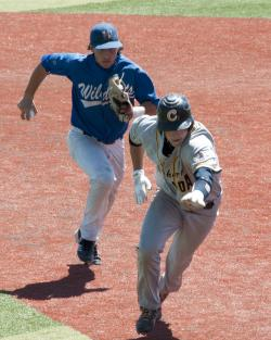 Taylor Smart, running down a base runner here, was draftd in the 26th round by the Seattle Mariners…
