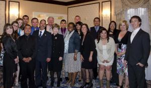 Members of the Associated Students of Western Nevada with WNC President Dr. Carol Lucey and Regent…