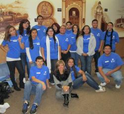Latino Club members gather at the 2012 Talent Show