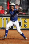 Madi Gonzalez of WNC belts a double late in the game against North Idaho.