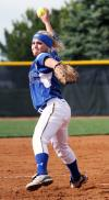 Wildcat starter Carlee Beck delivers a pitch against North Idaho.