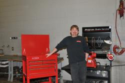 Automotive Technology Student Jack OConnell