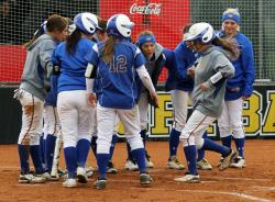 Katilyn Covione Gets Congratulations After Homers