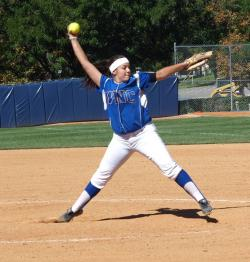 Lindsay Ashbaugh on the mound