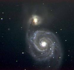 WHIRLPOOL GALAXY--Messier Object 51, better known as the Whirlpool Galaxy, is one of the most…