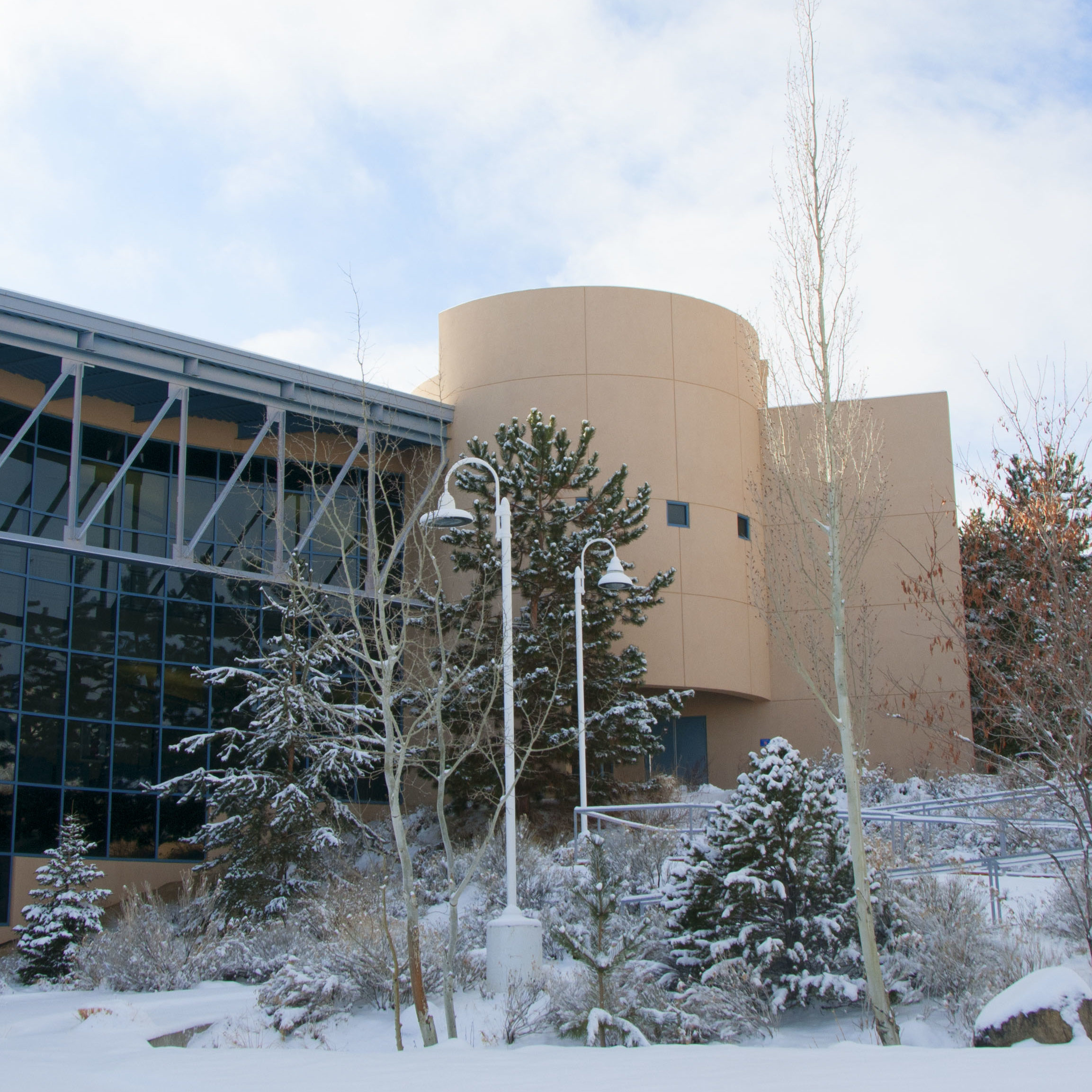 Snowy Campus Building